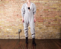 heather grey 90s sweatsuit / jumpsuit / slouchy jumpsuit / onepiece sweatsuit / sporty / minimalist / grey sweatsuit / jog suit / loungewear