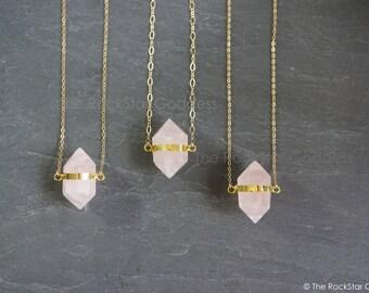 Open Heart Chakra // Rose Quartz Necklace // Rose Quartz Pendant // Rose Quartz  // Quartz Necklace