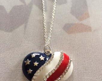 Stars and Stripes - Patriotic Jewelry - American Flag Necklace - American Flag Jewelry - Red White and Blue - Red White and Blue Jewelry
