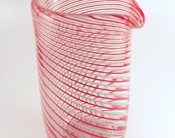 Multicolor Striped Mixing Glass
