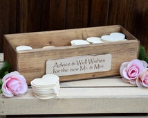 Rustic Wedding Advice Box - Rustic Guest Book - Guest Notes Box - Advice for the Bride and Groom - Wedding Wishing Well - Wedding Guest Book