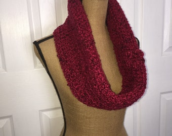 Crocheted circle scarf