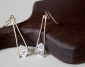 Herkimer Diamond Drop Earrings, Herkimer Diamond Earrings, Drop Earrings, Dangle Earrings