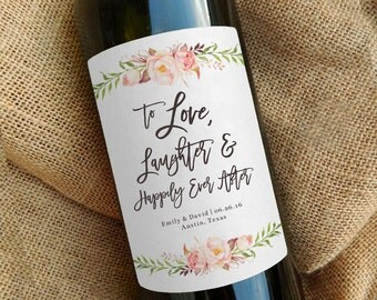 Custom Wine Bottle Label \\ Wedding Favor \\ Gift \\ Centerpiece \\ Mini or Regular