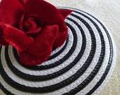 Straw Fascinator Base White Black for DIY Millinery Hat Making Round Shape Two Tone Bullseye Spiral
