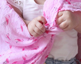 Flamingo Muslin Wrap / Swaddle