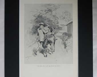 1920s Antique Equestrian Print by Lionel Edwards, Pony Decor, Available Framed, Horse Art, Gift for Rider, Riding Picture, Learning to Ride