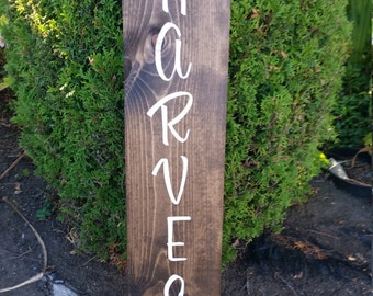 """Welcome Harvest Patio/Porch Sign (~8""""x24"""")"""