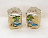 Mid Century Salt and Pepper Shakers Hawaiian Luau Decor