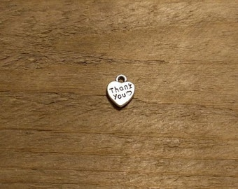 Tiny Thank You Heart Charms