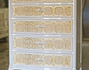 French Provincial tall dresser / chest