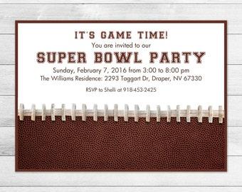 Super Bowl Party Invitation, Football, Sports Digital Invite File