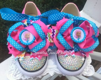Bubble Guppies Birthday Shoes Molly Bow Bubble Guppie Party Molly Costume Bubble Guppies Bow - Bubble Guppies Outfit Crystals Bling Converse