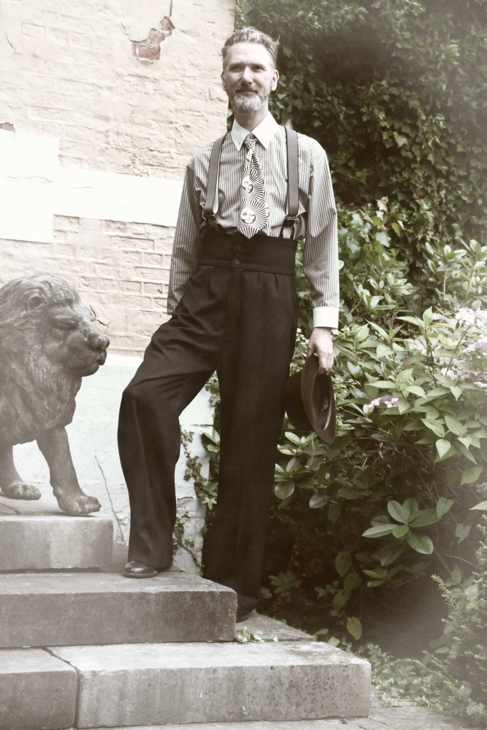 1920 S Oxford Bags Vintage Style College Pants By