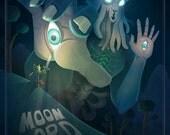 "Moon Lord 12X18"" print"