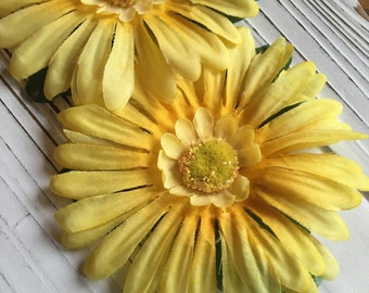 Yellow Sunshine Gerber Daisy Hair Flower Clip