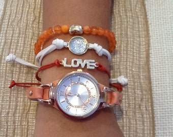 Coral watch and braclet set