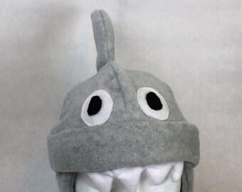 Adult Fleece Shark Hat