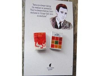 J. D. Salinger's miniature book pins set