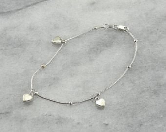 Sweet Heart Charm Layering Bracelet  LJ4AW0-P
