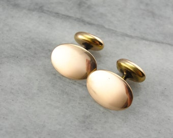 Vintage Rose Gold Oval Cufflinks WAP320-N