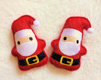 Santa Hand Warmers - Pocket Sized Santa Claus - Stuffed Santa - Portable Warmth - Christmas Gifts for Kids - Winter - Stocking Stuffer