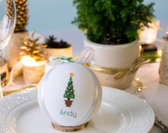 Winter wedding favors, Christmas table decoration, Winter wedding table decor, Christmas gift, personalized ornament