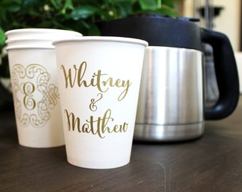 Customized Printed Disposable Double Wall Paper Coffee Cups