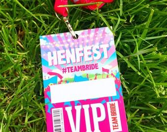 HENFEST Hen Do VIP Passes