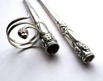 Cigarette Holder Set and Snake Ring, Slim Holder, Regular Holder, Cigarette Holder for Slim Size and Regular Size Cigarettes, Best Gift Idea