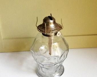 Vintage Kaadan Ltd. Oil Lamp, Vintage Kaadan,Kero Lamp,Kaadan Lamp Base, Antique Oil Lamp, Glass Oil Lamp