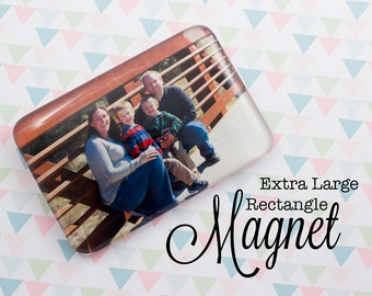 Custom Photo Magnet Personalized Extra Large Rectangle Glass 50x75 mm Magnet