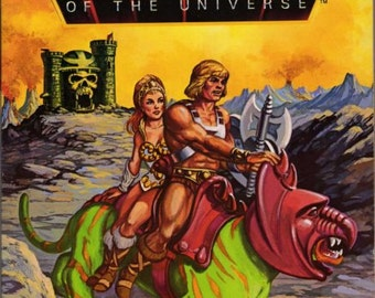 Masters of the Universe, He Man, He Man Activity Book, Activity Book, Masters Universe Book, Masters of Universe Activity Book,Skeletor,1983