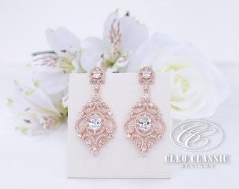Wedding Earrings Bridal Earrings Bridesmaid Gifts Crystal Zircon Dangle Earrings Bridesmaid Earrings Women's Earrings
