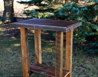 Barn Wood Pub Table Tin Top Rustic Reclaimed Furniture