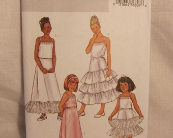 Girl Petticoat Pattern, Butterick 3920 Sz:4-5-6. Formal Petticoats, Flower Girl Petticoat, Princess Petticoat Pattern.Cheapest Shipping