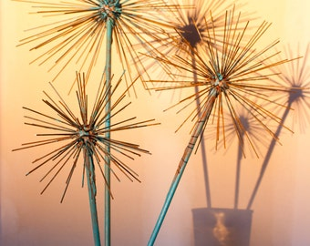 The Urban Allium, Abstract Metal Flower Sculpture