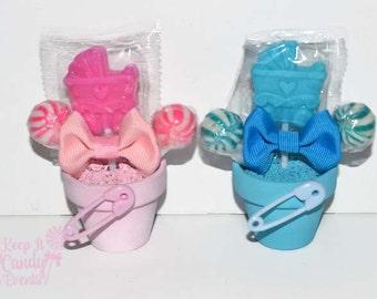 Baby Shower Stroller Lollipop Favors, Its a Girl, Its a Boy, Baby Shower Favor, Baby Shower Candy, Stroller Favors, Stroller Theme Favors