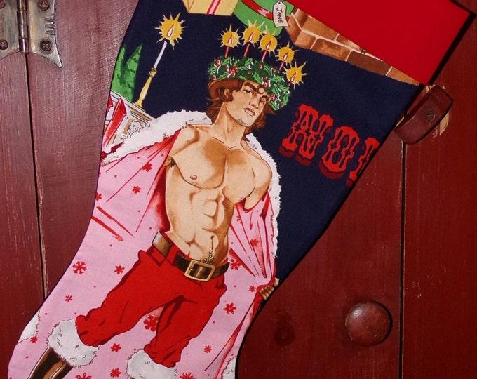 Santa Hunk Christmas Stocking