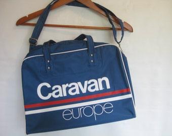 Vintage Caravan Europe Bag Carry on Tote Airline Bag - SALE