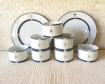 Vintage American Airlines First Class Gwathmey Siegel Swid Powell Coffee Cups