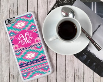 Aztec iPhone 7 Case iPhone 8 Tribal Phone Case Custom Colors Monogram Personalized Tribal S6 Edge Samsung S6 S5 Tough Plastic Custom