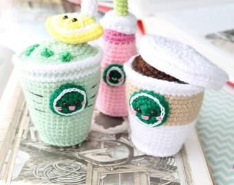 Starcutes Buddies Crochet Pattern Amigurumi Food Crochet Food Starbucks Amigurumi