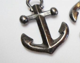 SALE: Tierra Cast Black Anchor Pendant