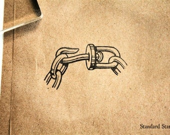 Swivel Hook Rubber Stamp - 2 x 2 inches