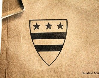 Coat of Arms Rubber Stamp - 2 x 2 inches