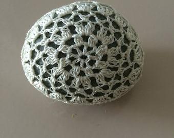 Crochet Covered River Stone - single piece