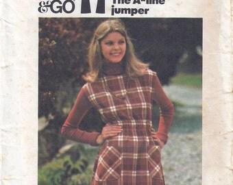 1970s Misses A-Line Jumper Pattern, Butterick 4382, Size 10