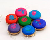 Stocking stuffers One Wooden Yo-Yo , wooden toy , Natural organic toy, Christmas Stocking stuffers for kids, Christmas gift for kids