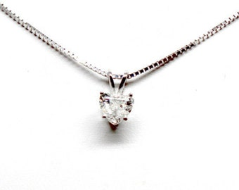 Heart Shape 0.51ctw Diamond Pendant in White Gold